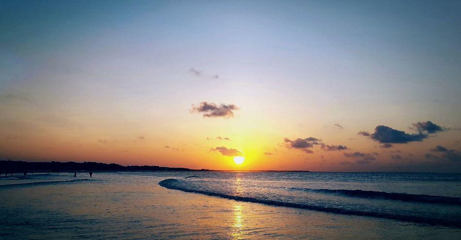 City of Salinópolis, Atalaia Beach, State of Pará, Amazon, Brazil. Sunset Beach Sea Sun Sky Cloud - Sky Reflection