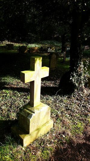 Cross Tombstone Cemetery Sunlight Cross Shape Memorial Outdoors Kirbywiske Walking Around Taking Pictures Scenics Countryside Walking Around Yorkshire Beauty In Nature