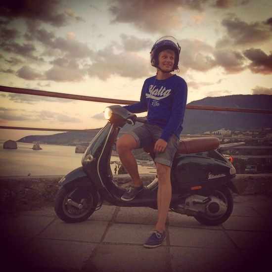 Vespa View Sea And Sky That's Me