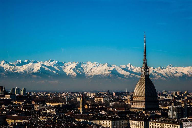 Mountains Mole Antonelliana Turin #landscape #nature #photography Nikon D200 Lens Donnieart