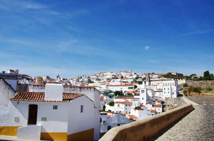 Old city of Elvas, Alentejo, Portugal Alentejo, Portugal Elvas Portugal Architecture Building Exterior Built Structure Cityscape House No People Old City Outdoors Residential Building Roof Town