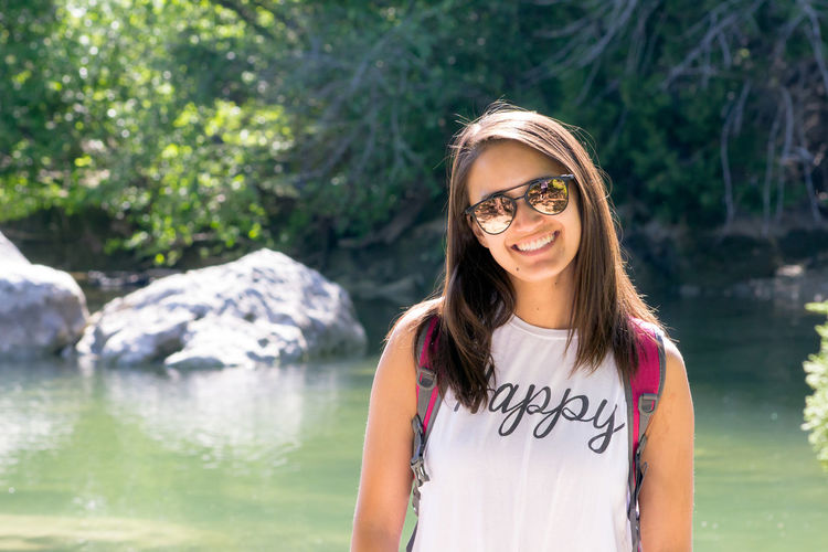 Happy Hiking at Barton Creek Happy Happy People Hiking Beautiful Woman Casual Clothing Front View Glasses Happiness Lifestyles Looking At Camera Nature One Person Outdoor Photography Outdoor Portrait Outdoors Portrait Real People Smiling Smiling Face Waist Up Young Adult Young Women Summer Exploratorium International Women's Day 2019