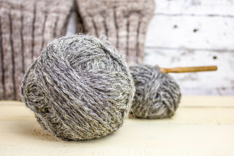 Close-Up Of Yarn Balls