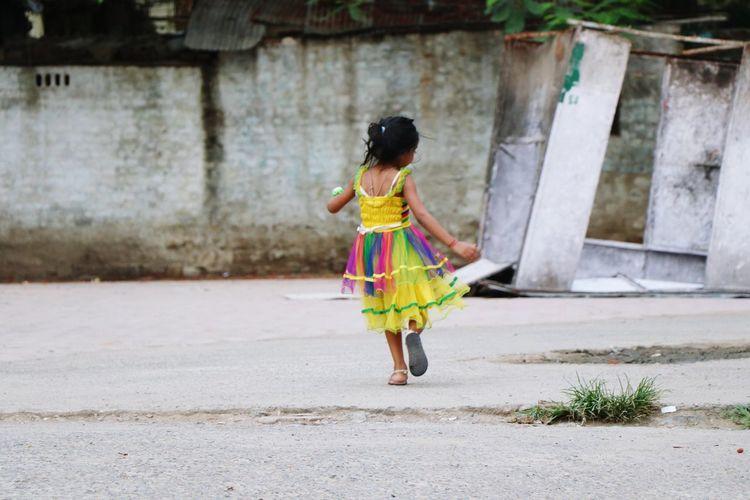 Little Girl Dancing Evening Canon 80D EyeEmNewHere Streetphotography Street The Street Photographer - 2017 EyeEm Awards
