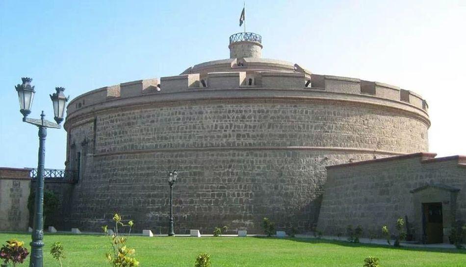 "Torreón de ""La Reina"" - Tower of ""The Queen"" in El Callao Lima Historical Site Architecture"