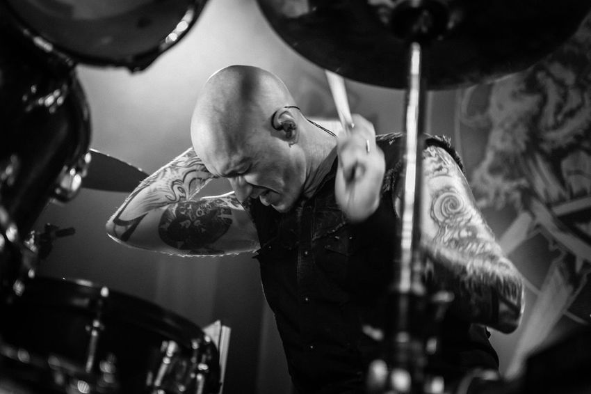 Machine Head Dave McClain Drummer Drummers Concert Concert Photography Music Musician Blackandwhite Black And White Action Live Music Live Music Photography Rock Star Heavy Metal Nikonphotography
