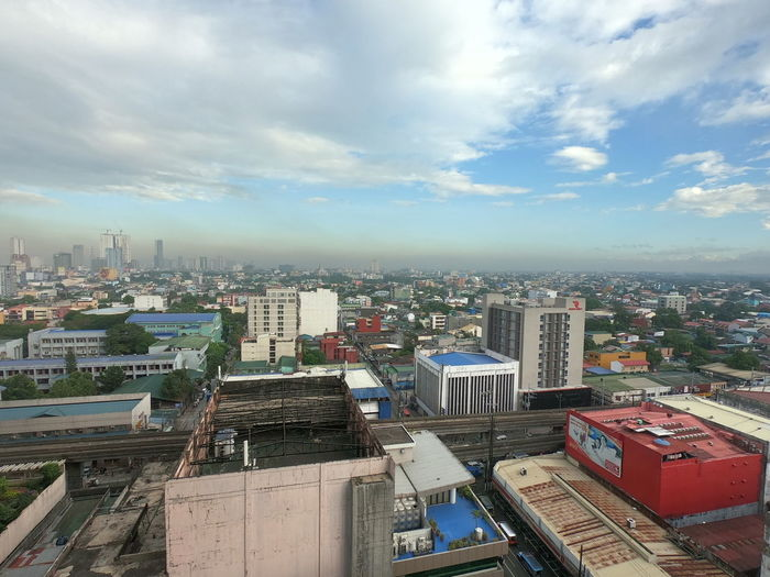 City view Quezon City Manila City Cityscape Urban Skyline Skyscraper Modern High Angle View Aerial View Downtown District Sky Architecture Tower Tall - High