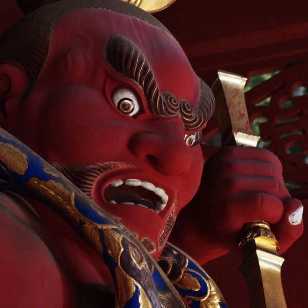 Japan Buddha God Temple Red Kioto Trip Travel Anger Devotion
