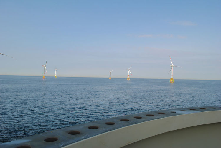 Wind energy company is building a wind farm in belgium