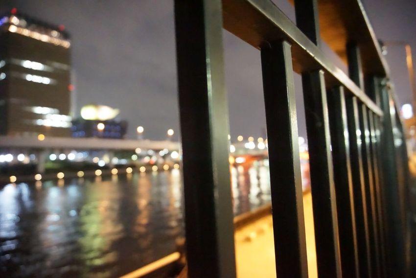 Fence... Fence River Riverside River View Riverscape Sumida Sumidariver Sumida River Sumida River Tokyo Riverside Photography River Collection Riverwalk Rivers Tokyo Tokyo,Japan Tokyo Night Tokio Asahi Asahi Beer Asahibeer