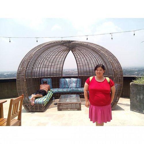 On the rooftop Rooftop View 7thfloor Indoluxehotel Indoluxehoteljogjakarta Indoluxejogja October2015