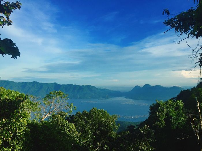 Waduk Jatiluhur from Mount Lembu Mountain View Purwakarta INDONESIA