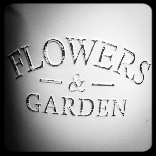Flowers Garden Signs Black And White