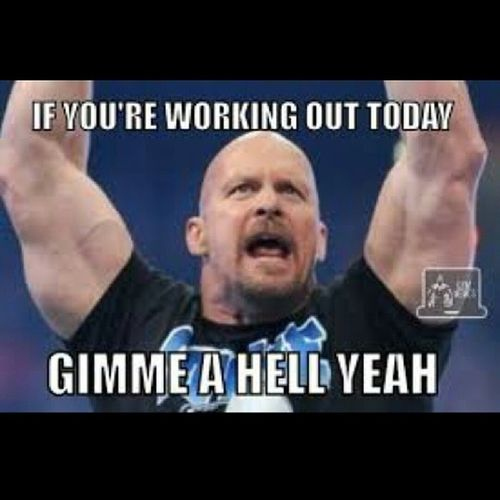 Who worked out today?? Hellyeah StoneCold Wwe Bigbench instagramers instafitness weight diet gym lifestyle love cardio dedication eatclean followme workout trainhard running squats chestday legday beastmode