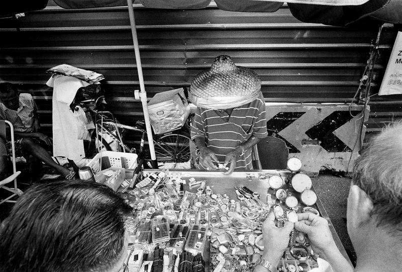 At the Sungei Road Markets. Singapore 2017. Streetphotography Black And White Singapore Vintagr Markets Street Photography Gritty
