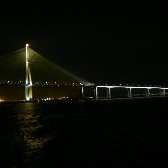 sailing under the Bridge Incheon South. Korea