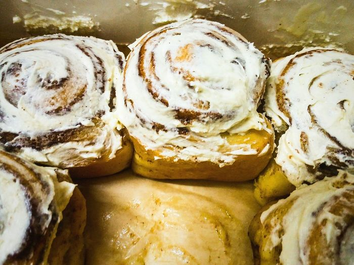 High Angle View Of Cinnamon Buns
