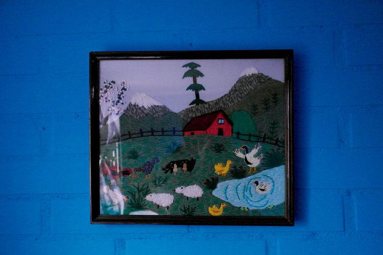 Cuadros Arte Decoracion Animal Themes Architecture Artesanal Blue Close-up Cuadro Day No People Outdoors