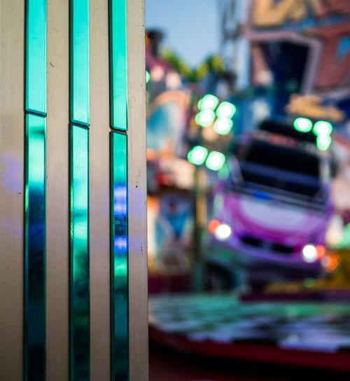 Break Dance City Illuminated Multi Colored Close-up Vehicle