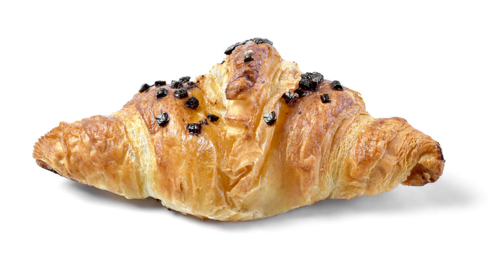 Fresh butter croissant with chocolate filling and chocolate sprinkle croissant, isolated on white background. Chocolate Isolated Baked Brown Chocolate Croissant Close-up Cut Out Delicious Food Food And Drink Freshness Gourmet Food Indoors  Indulgence Isolated On White No People Ready-to-eat Single Object Snack Sprinkles Still Life Studio Shot Temptation Wellbeing White Background