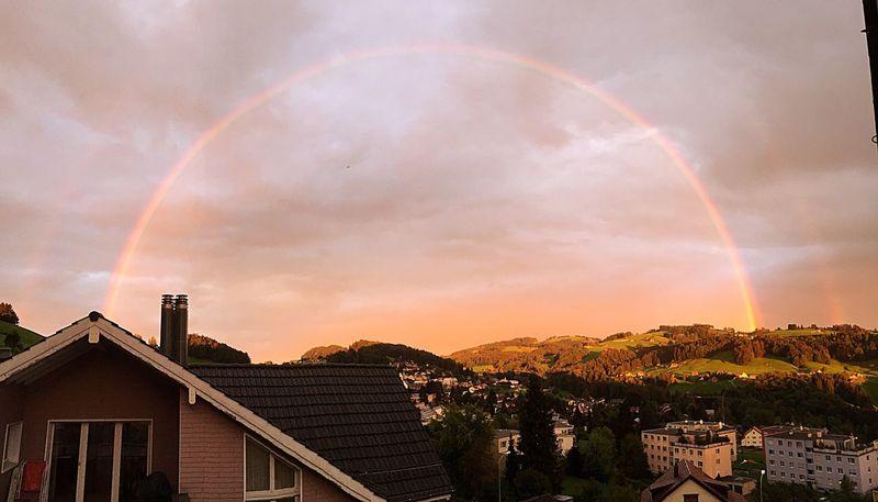 Abendstimmung Rainbow🌈 in Switzerland what a Picture 🙊
