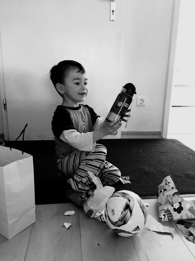 Birthday Gift Happy Kid Grayscale Lovely Beautiful