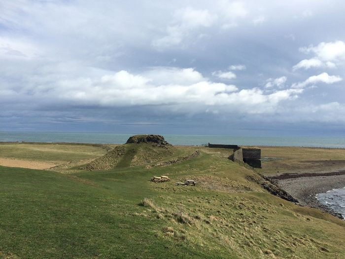 Holy Island Ruins Coastline Northumberland Green Rugged Hill Landscape Fine Art Photography No Filter Lindisfarne