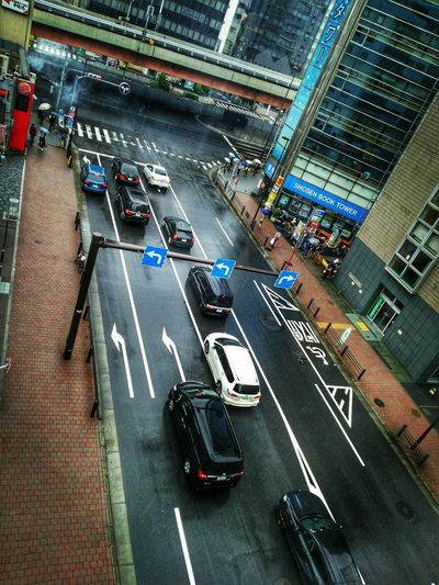 tokyo City Cityscape Road Illuminated Aerial View Land Vehicle Rush Hour Car City Life High Angle View