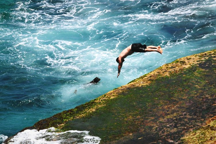 Jump into ocean. To be brave in your life. By FeBird in 2012 using Nikon D80 with 70-200mm vr ii.