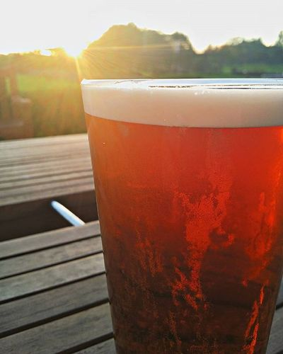 Enjoying a Beer at Sunset in Dalmuir TCK15