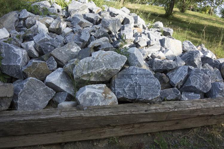 Stack of stones on rocks