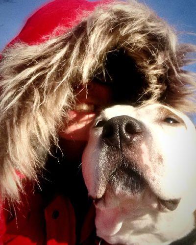 Me and Jinx Best Freinds Bestfriend Best Dog Headshot Dog One Person Red Portrait