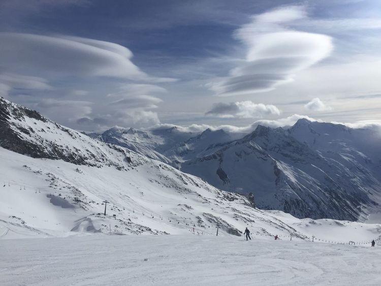 Austria Hintertuxer Gletscher Alps Beauty In Nature Cloud - Sky Cold Temperature Day Landscape Mountain Mountain Range Nature No People Outdoor Photography Outdoors Scenics Skier Sky Snow Snowcapped Mountain Tranquil Scene Tranquility Weather Winter Zillertal