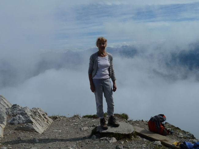 Mother-In-Law At The Hexene Crater Cloud - Sky Mountain Nature One Person Outdoors Real People Scenics Standing