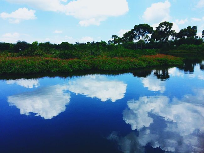 Heavens Sky Heaven Clouds Clouds And Sky Paradise Lake Water Reflection Lake View Nature Blue