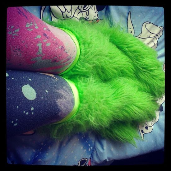 I told yalls I was a MoNsTEr Green Legwarmers Paint 101dalmations 101 colorfwull