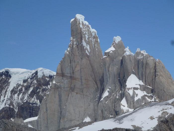 Cerro Torres Chalten Majestic Monte Fitz Roy Nature Patagonia Argentina Rocky Mountains Snow