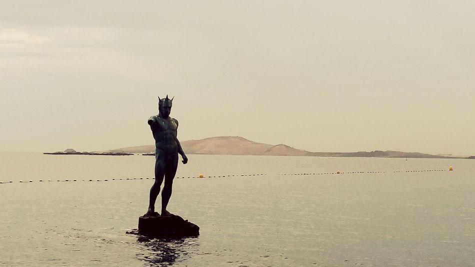 Calm Water Low Tide Sea Views Sculpture Sea Side Shilouette Gran Canaria The KIOMI Collection