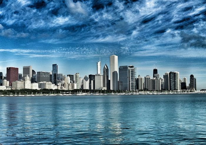 Chicago, Illinois Eye4photography  Shootermag EyeEm Best Shots EyeEm Best Edits City Cityscapes Clouds Sky And Clouds Clouds And Sky Color Photography Chicago Chicago Skyline Landscape_Collection Landscapes America Lakefront Chicago Illinois Chicago Architecture Cityscape Landscape Landmark City Life