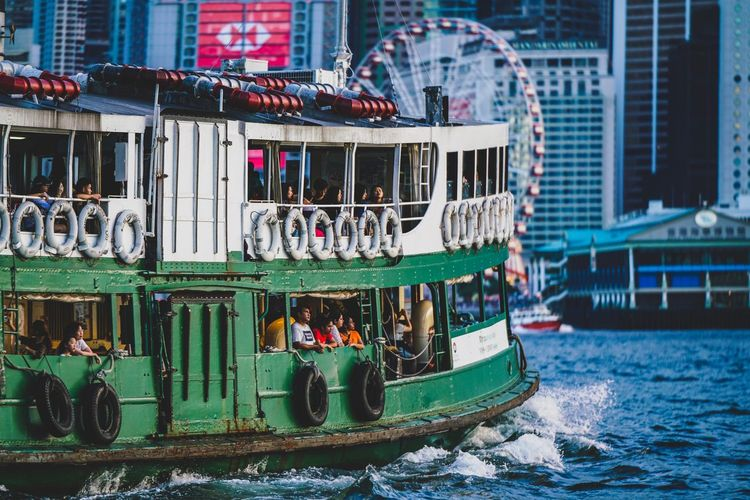 Harbour Weekend Ferry Weekend Discoverhongkong Water Building Exterior Built Structure Architecture Waterfront Nature Day Nautical Vessel Mode Of Transportation Outdoors No People Holiday Travel Multi Colored Harbor Swimming Pool Transportation Sea City The Traveler - 2018 EyeEm Awards