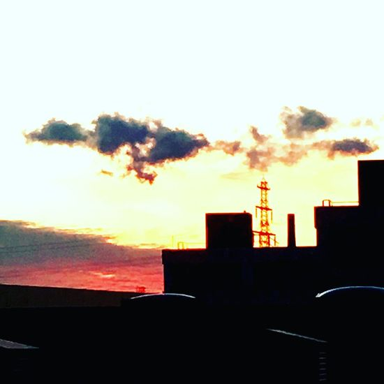 Smoke Stack Built Structure Architecture Sunset Factory Industry Colour Your Horizn