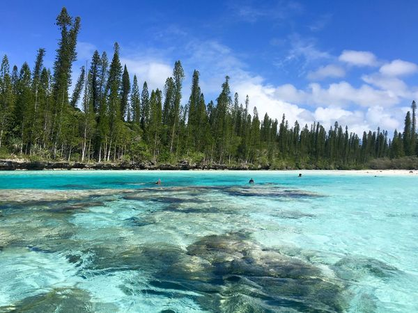 Isle Of Pines Beauty In Nature Clouds And Sky Natural Pool Nature New Caledonia Rocks Scenics - Nature Sea Tranquil Scene Turquoise Colored Water