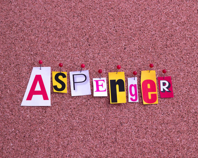 Asperger´s syndrome Asperger Aspergers Aspergerssyndrome Aspergersyndrome Autism Autism Speaks Autistic Autistic Vision Capital Letter Close-up High Angle View Letter Multi Colored No People Red Sign Single Word Text Western Script