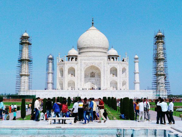 Some work is going on Taj Mahal