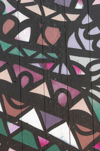 Wall with graffity pattern Full Frame Pattern Backgrounds Multi Colored Creativity Graffiti Wall - Building Feature Art And Craft No People Design Close-up Indoors  Shape Flooring Architecture Day Black Color Abstract Built Structure Textured  Floral Pattern Nikon Nikonphotography Stockphoto Graffiti