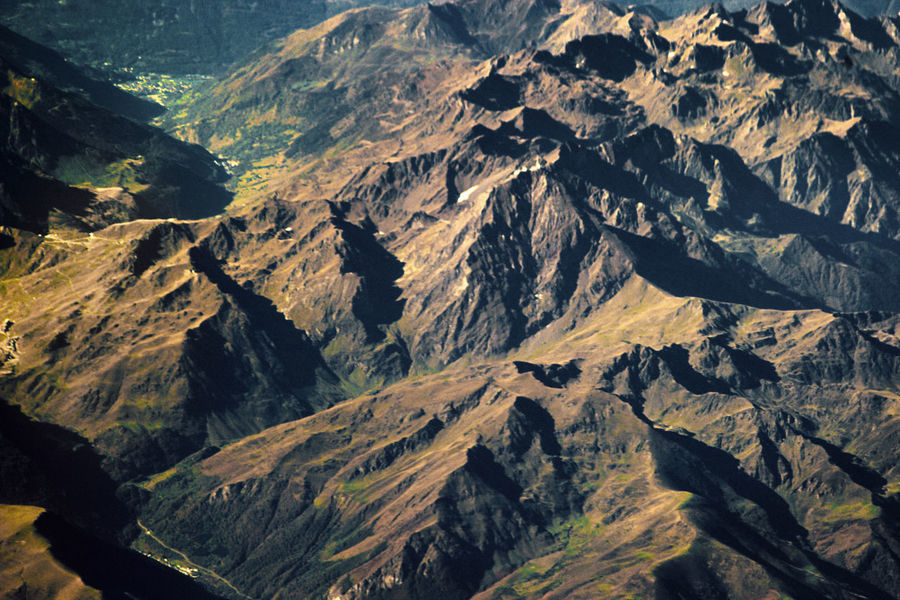 The alps from 30 000 feet. Aerial View Arial Backgrounds Beauty In Nature Extreme Terrain High Altitude Photography High Angle View Higher Places. Landscape Mountain Mountain Peak Mountain Range Mountain Ridge Nature No People Outdoors Plane Scenics View Wilderness Area