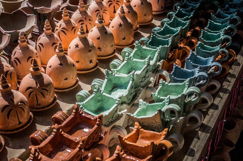 Ceramics Colorful Day Gifts Handycraft Lights No People Pots Souvenir