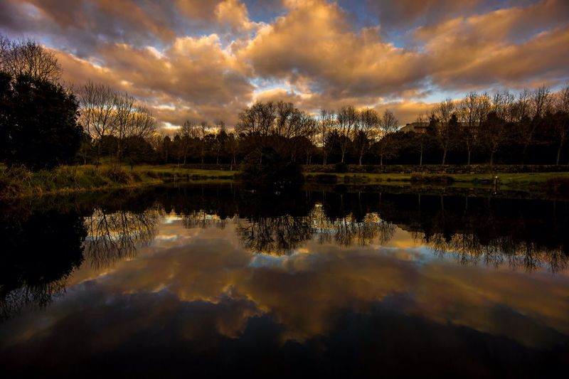 EyeEm Porto Clouds And Sky Water Reflections Colors Winter Endofday Twilight Oporto Parque Da Cidade