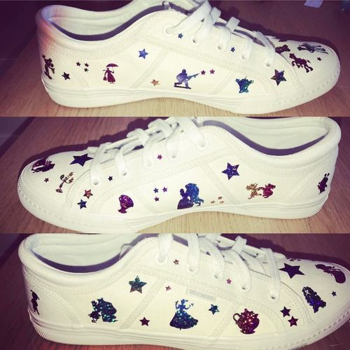 Out Of The Box Homemade Upcycled My Skechers Self Confessed Disney Addict Disney Love My Trainers