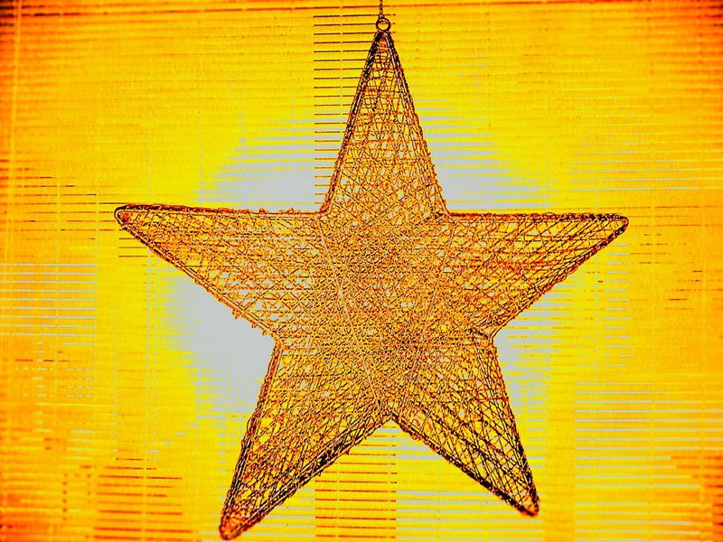 """Gold Star"" Star Shape Gold Colored Christmas Decoration No People Christmas Close-up Indoors  Star Christmas Star"